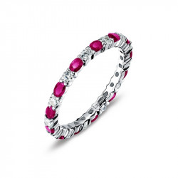 BR003RBP05. Lafonn Ruby Birthstone Eternity Ring