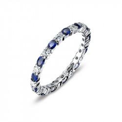 BR003SAP05. Lafonn Sapphire Birthstone Eternity Ring