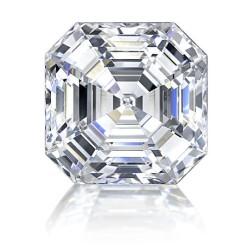 AM01853. 1.30ct Asscher Forever One Loose Moissanite Stone