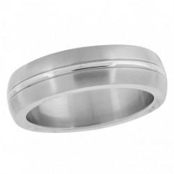 55334. Men's Stainless Steel Wedding Band