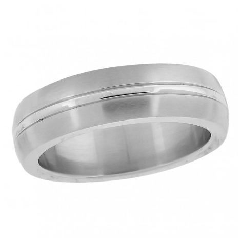 55334. Men's Stainless Steel Wedding Band