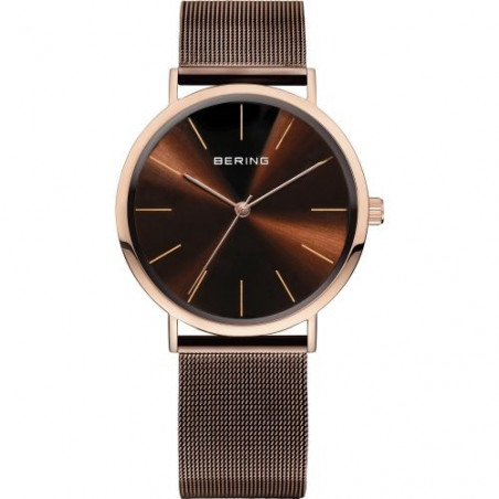 13436-265 BERING MEN'S MILANESE ROSE WATCH