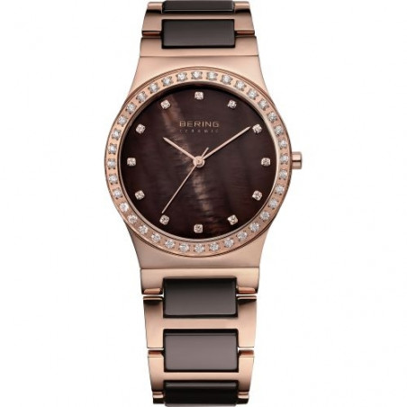 32435-765. BERING WOMEN'S STAINLESS STEEL ROSE GOLD WATCH
