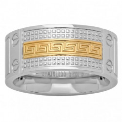 54899. Men's Two-tone Stainless Steel Wedding Band
