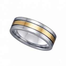 22330. Men's Two-Tone Tungsten Wedding Band