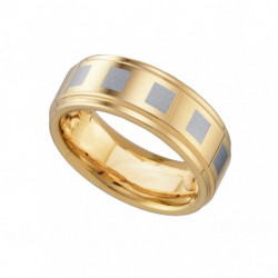 17924. Men's Two-Tone Tungsten Wedding Band