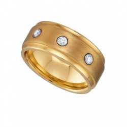 22390. Men's Yellow Ceramic Wedding Band