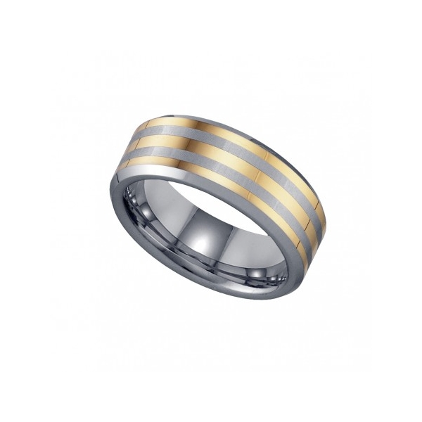 Two Tone Wedding Bands | 17905 Men S Two Tone Tungsten Wedding Band