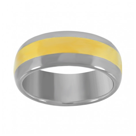 39875. Men's Two-Tone Tungsten Wedding Band