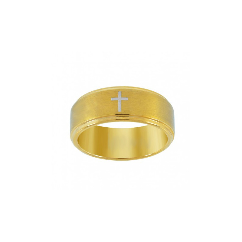 29615. Men's Yellow Tungsten Wedding Band