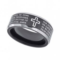 40221. Men's Black Tungsten Wedding Band