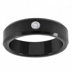 39920. Men's Black Tungsten Wedding Band