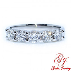 WB01790. Women's Five Stone Diamond Wedding Band