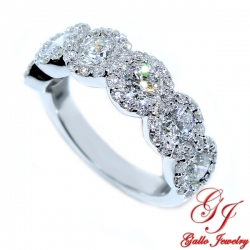 WB01825. Women's Diamond Halo Wedding Band