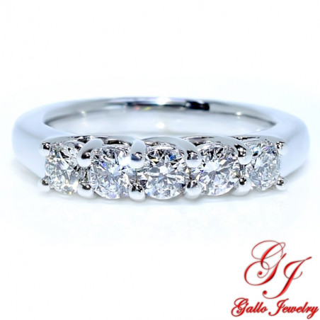 WB01659. Women's Five Stone Diamond Wedding Band
