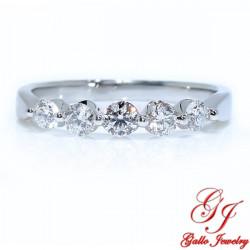 39343. Women's Five Stone Diamond Wedding Band