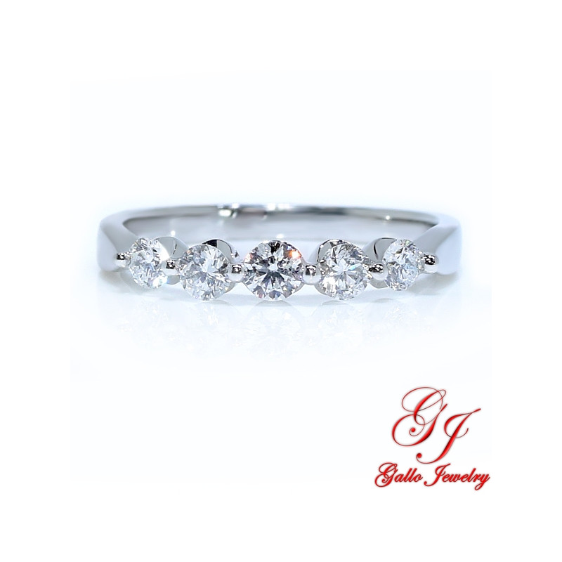 Wedding Bands For Women.39343 Women S Five Stone Diamond Wedding Band