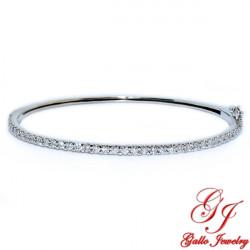 LB01629. Woman's Diamond Bangle Bracelet