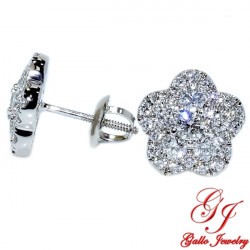 115441. Woman's Diamond Cluster Stud Earrings