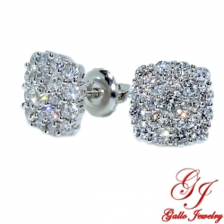 115449. Woman's Diamond Cluster Stud Earrings