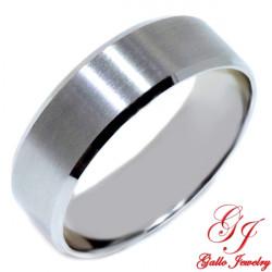 PWB002. 14KT White Gold Unisex 7.00mm Plain Wedding Band