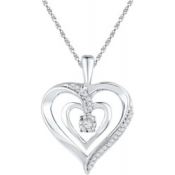 108656. Dancing Diamond Heart Pendant