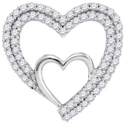 96598. Diamond Double Heart Pendant