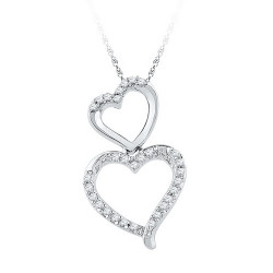 97481. Diamond Double Heart Pendant
