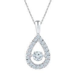 97034. Dancing Diamond Pear Shaped Pendant