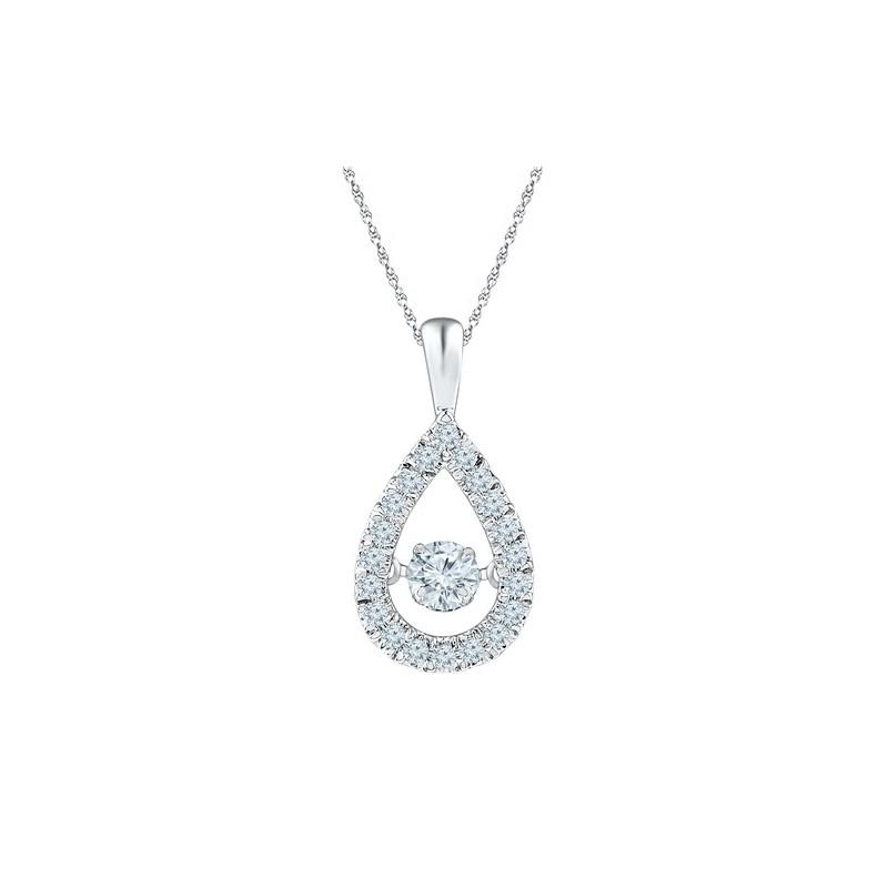 97034 dancing diamond pear shaped pendant dancing diamond pear shaped pendant aloadofball Image collections