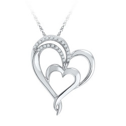 97450. Diamond Double Heart Pendant