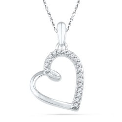 101038. Diamond Heart Pendant