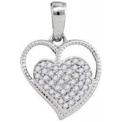 93416. Diamond Double Heart Pendant