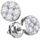 107407. Diamond Cluster Stud Earrings