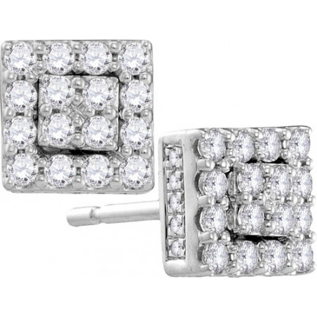 105875. Diamond Cluster Stud Earrings