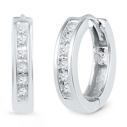 101747. Diamond Huggie Hoop Earrings