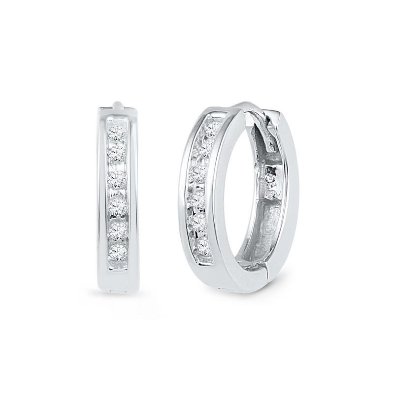 101747. Diamond Huggie Hoop Earrings