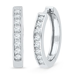 101775. Diamond Hoop Earrings