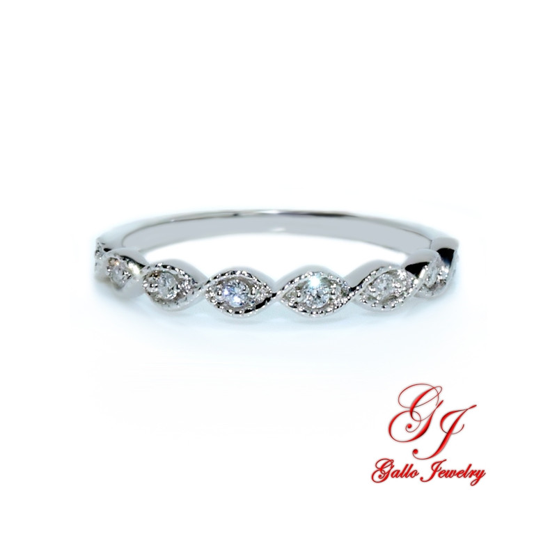 diamond ladies milgrain rlb wedding white bomi band gold bands