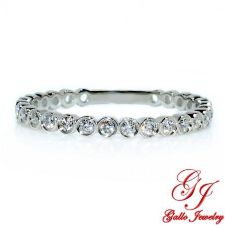 118143. Art Deco Diamond Wedding Band