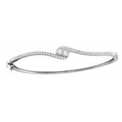 116411. Forever Us Two Stone Diamond Bangle Bracelet