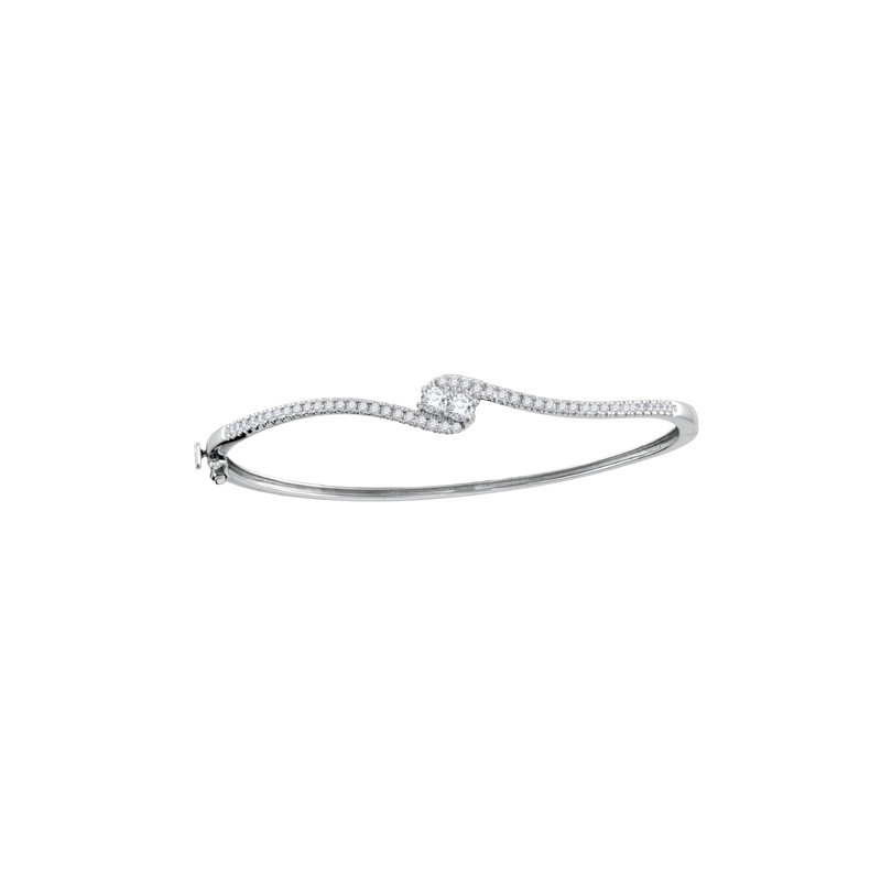 Forever Us Two Stone Diamond Bangle Bracelet
