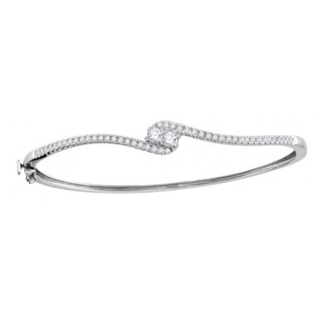 116411. Forever Us Two Stone Diamond Bangle Bracelet