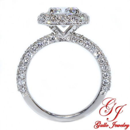 ENG02121. Round Diamond Halo Engagement Ring  (Center Diamond Sold Separately)