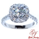 ENG02272. Cushion Diamond Halo Engagement Ring (Center Diamond Sold Separately)