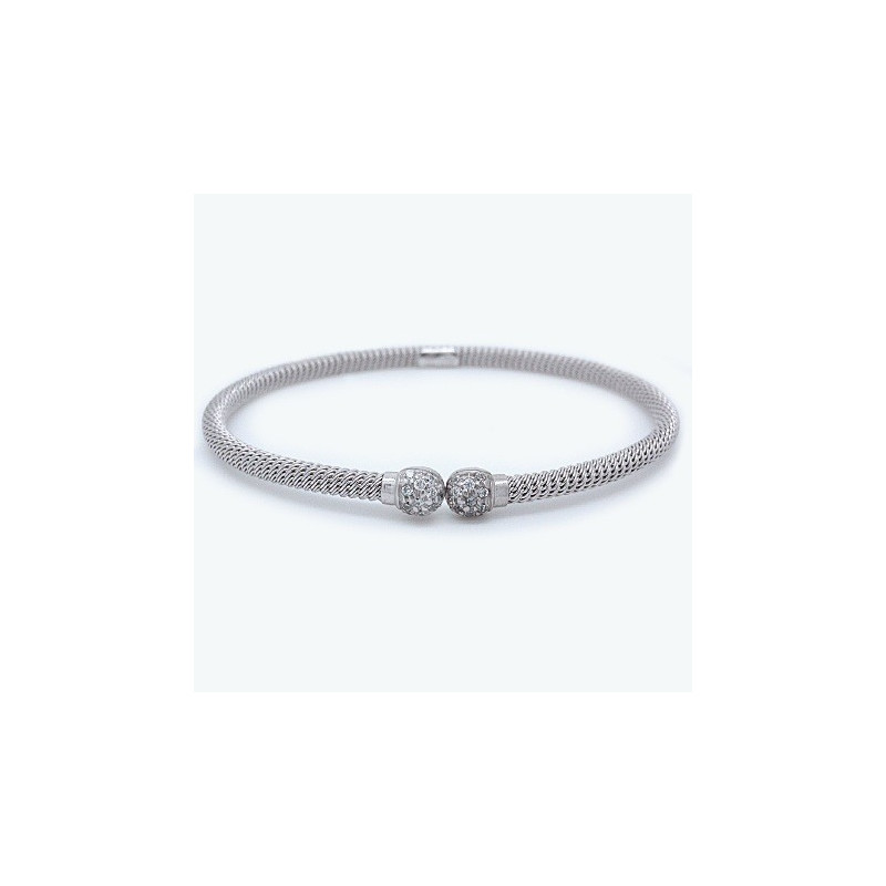open bracelet sterling drop ladies women cuffs shippping hand cuff ball double fashion bangles jewley store product silver bangle wristband gift