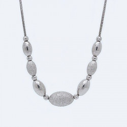 S017B. Ladies Sterling Silver Necklace