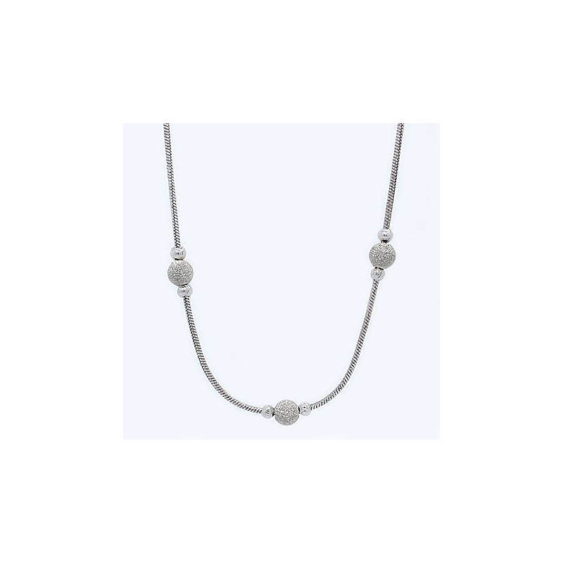 S018B. Ladies Sterling Silver Necklace