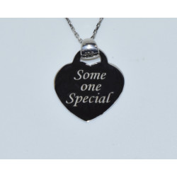 """J-2591 925 SILVER HEART """"SOMEONE SPECIAL"""" PENDANT"""