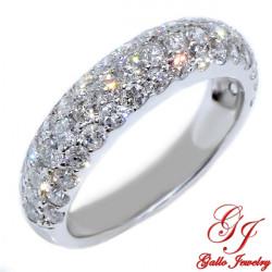 WB00139. Woman's Pave Diamond Wedding Band
